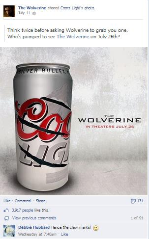 PHAI Blog Entry Coors Light and The Wolverine Market